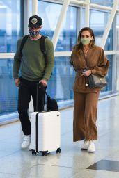 Jessica Alba at JFK Airport in NY 05/06/2021
