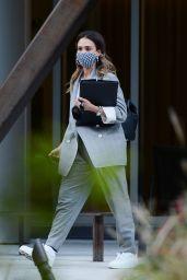Jessica Alba - Outside Her Office in LA 04/29/2021
