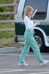 """Jessica Chastain - """"The Good Nurse"""" Filming Set in Stamford 05/19/2021"""