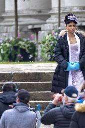 "Jessica Madsen, Shelley Conn, Melissa Advani and Priya Kansara - ""Bridgerton"" Season 2 Set in London 05/25/2021"