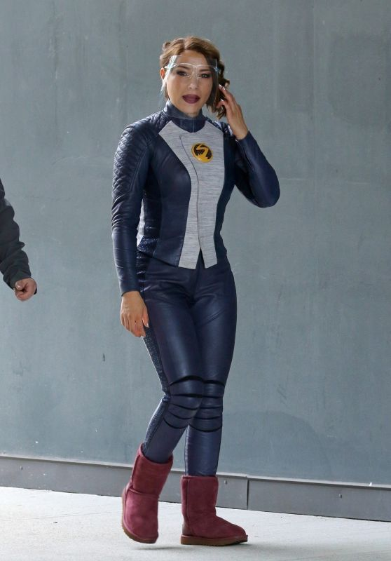 """Jessica Parker Kennedy - """"The Flash"""" Set in Vancouver 05/07/2021"""