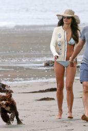 Jordana Brewster in a Bikini - Beach in Santa Monica 05/02/2021