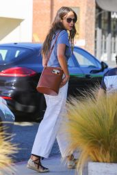 Jordana Brewster Street Style - Brentwood 04/30/2021