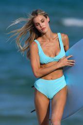 Joy Corrigan in a Swimsuit - Photoshoot on the Beach in Miami 05/02/2021