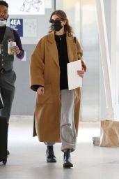Kaia Gerber in Travel Outfit - JFK Airport in NYC 05/11/2021