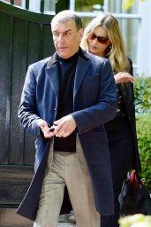 Kate Moss in a Long Black Coat and Dark Sunglasses - London 05/19/2021
