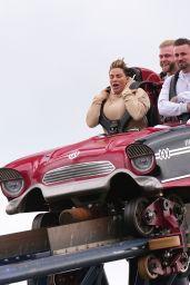 Katie Price and Carl Woods at Thorpe Park Adventure Park in Surrey 04/30/2021