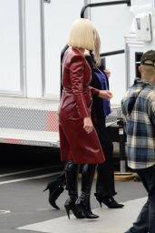 Katy Perry in a Red Leather Outfit - American Idol Show in LA 05/16/2021
