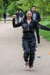 Katya Jones and Giovanni Pernice - Filming in a London Park for MeccaBingo.com 05/30/2021