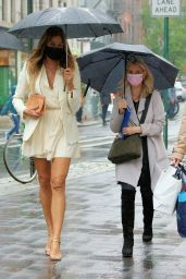 Kelly Bensimon in a Little White Dress in NY 05/05/2021