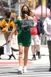 Kelly Bensimon Wearing a Walter Baker Dress and a Hermes Bag in New York 05/13/2021