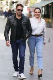 Kelly Brook in Tight Denim and White Blouse in London 05/12/2021