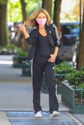 Kelly Ripa in an Adidas Tracksuit - New York 05/13/2021