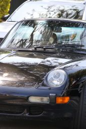 Kendall Jenner in a Black Porsche in Los Angeles 05/05/2021