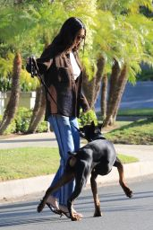 Kendall Jenner - Walking Her Dog in Beverly Hills 05/07/2021