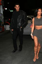 Kim Kardashian in a Skintight Outfit and Roman Gladiator Style Heels - Beverly Hills 05/23/2021