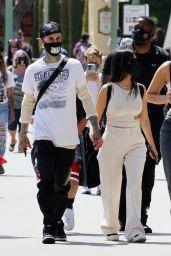Kourtney Kardashian and Travis Barker - Disneyland in Anaheim 05/19/2021