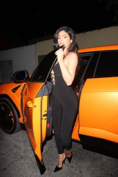 Kylie Jenner in a Jumpsuit at Craig