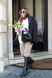 Lady Gaga - Leaves the Boscolo Hotel in Rome 05/09/2021