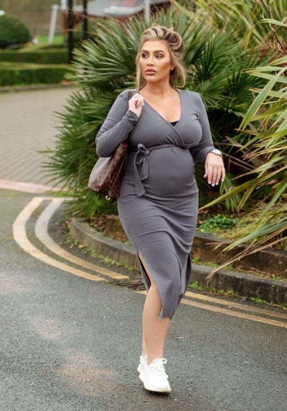 Lauren Goodger in a Grey Dress - Chigwell 05/09/2021