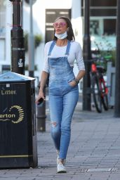 Lilly Becker Wearing Dungarees - London 05/27/2021