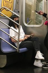 Lily Allen and Husband David Harbour Riding the Subway in NYC 05/05/2021