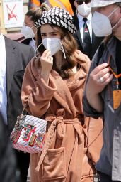 """Lily Collins - """"Emily In Paris"""" Filming in Saint-Tropez 05/09/2021"""