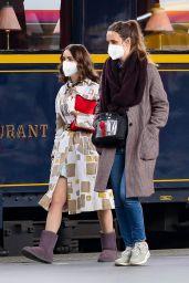 "Lily Collins - ""Emily in Paris"" Filming Set at Gare de l"