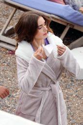 "Lily Collins - ""Emily in Paris"" Filming Set in Paris 05/04/2021"