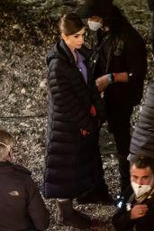 """Lily Collins - """"Emily in Paris"""" Set in Paris 05/06/2021"""