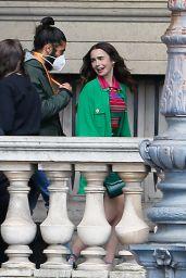 """Lily Collins - """"Emily in Paris"""" Set in Paris 05/17/2021"""