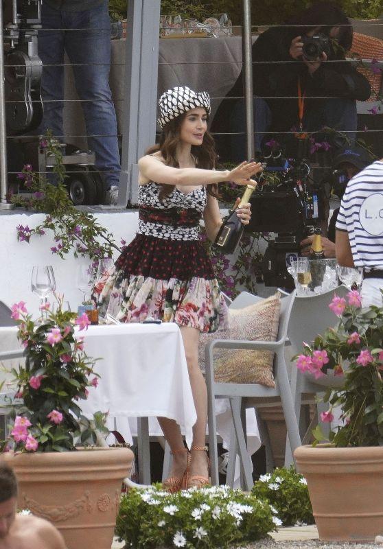 "Lily Collins - ""Emily In Paris"" Set in Saint-Jean-Cap-Ferrat 05/04/2021"