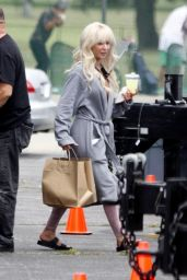 """Lily James - """"Pam and Tommy"""" Set in Los Angeles 05/11/2021"""