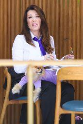 Lisa Vanderpump at Bottega Louie in West Hollywood 05/04/2021