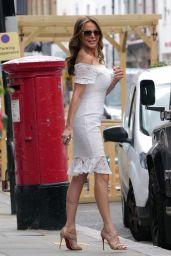 Lizzie Cundy in a White Mini Dress 05/26/2021