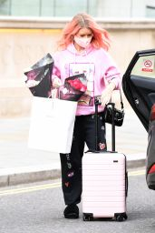 Lottie Moss in Comfy Outfit - Corinthia Hotel in London 05/25/2021
