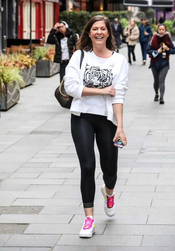 Lucy Horobin at the Global Radio Studios in London 05/14/2021