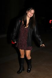 Mackenzie Ziegler in a Floral Dress and Leather Jacket - Century City 05/14/2021