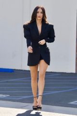 Megan Fox Flashes Her Legs in a Black Blazer and Platform Heels - LA 05/04/2021