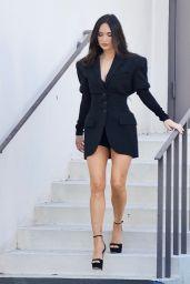 Megan Fox Flashes Her Legs in a Black Blazer and Platform Heels - LA 05/04/2021