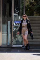 Michelle Hunziker in a Spring Outfit - Milan 05/04/2021