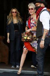 Miley Cyrus in Funky 70s Rocker Dress - New York 05/05/2021