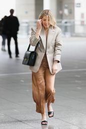 Mollie King Wearing a Bronze Shiny Dress - London 05/16/2021