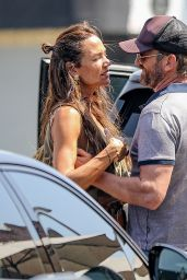 Morgan Brown and Gerard Butler at Kings Road Cafe in West Hollywood 05/06/2021