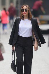 Myleene Klass in Black Trouser Suit - London 05/31/2021