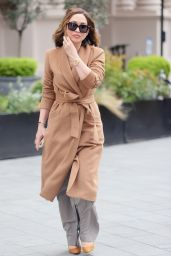 Myleene Klass in Caramel Colour Belted Coat and Healed Shoes 05/08/2021