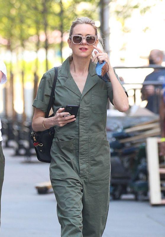 Naomi Watts in Khaki Jumpsuit - New York 05/15/2021