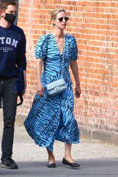 Nicky Hilton in a Blue Spring Dress - New York 05/02/2021