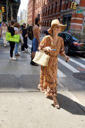 Nicky Hilton in a Floral Dress - Shopping Around Manhattan