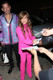 Paula Abdul in Pink at Craig's in West Hollywood 05/26/2021